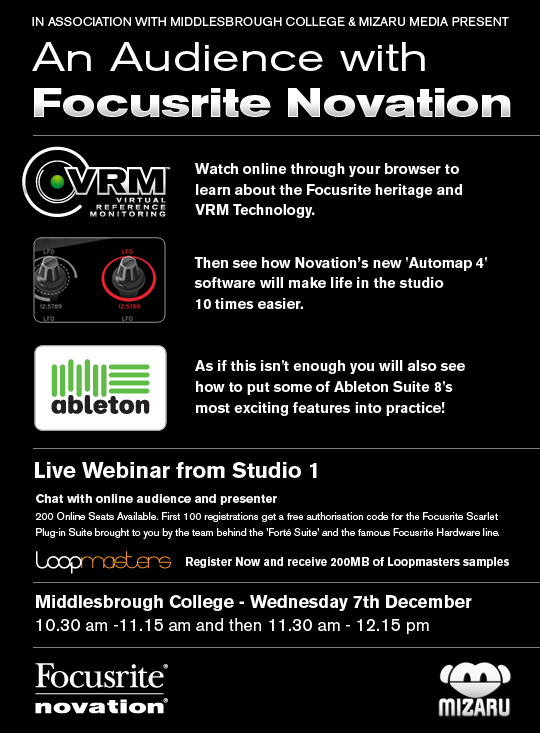 Focusrite Novation Webinar